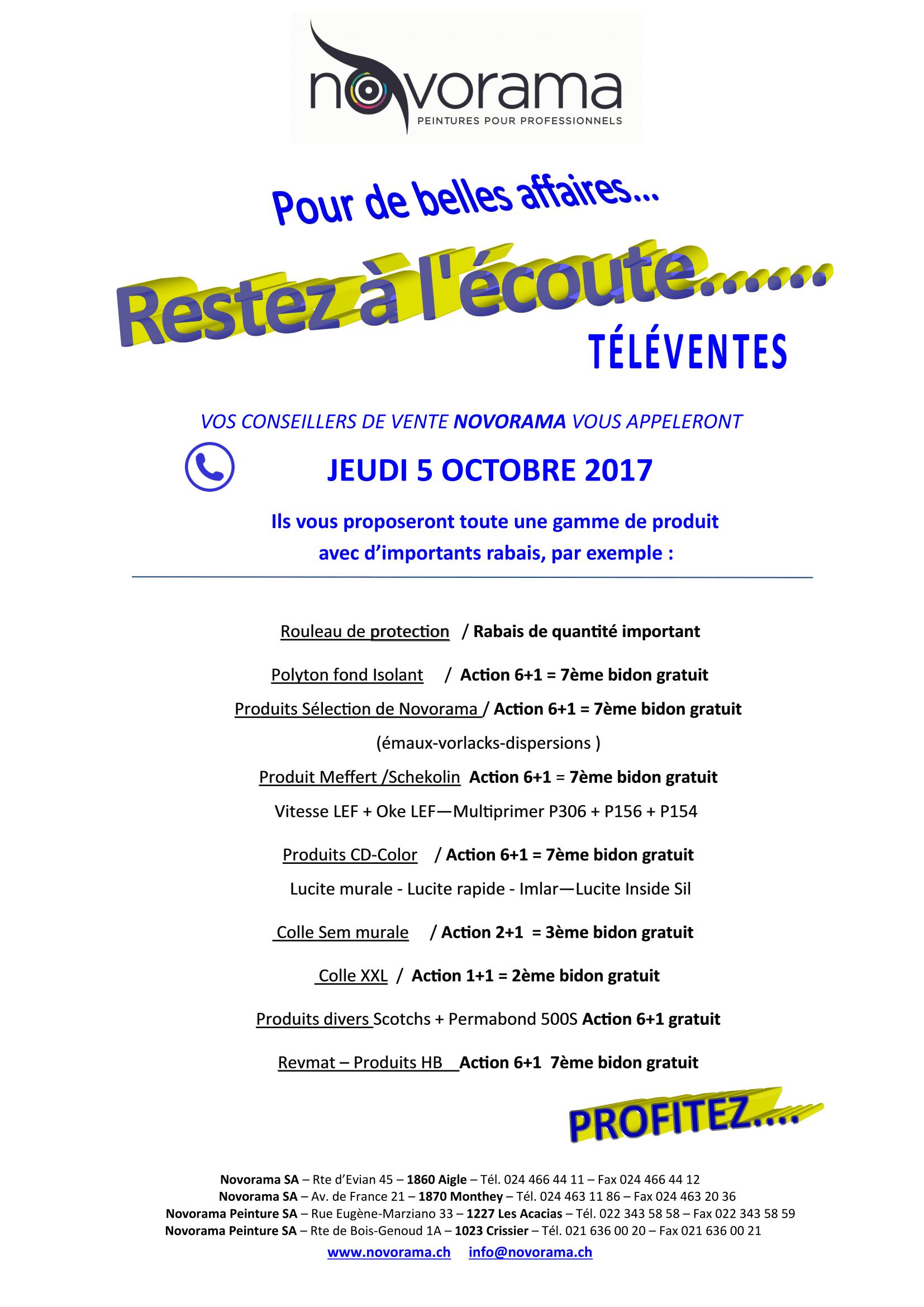 téléventes octobre 2017-1